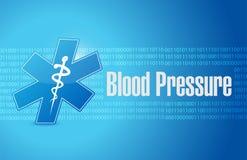 Blood pressure medical sign illustration Stock Photo