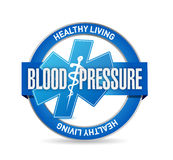 Blood pressure medical sign illustration. Design over white background Royalty Free Stock Photos