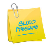 Blood pressure memo illustration design Royalty Free Stock Images