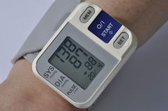 Blood pressure meter Royalty Free Stock Images