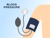Blood pressure meter on arm vector. / abstract Royalty Free Stock Images