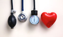 Blood pressure meter medical equipment isolated on Stock Images