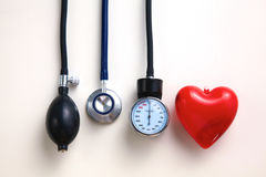 Blood pressure meter medical equipment isolated on Royalty Free Stock Image