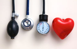 Blood pressure meter medical equipment isolated on Stock Photos
