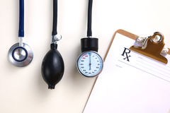Blood pressure meter medical equipment isolated on Royalty Free Stock Photo