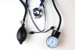 Blood pressure meter medical equipment isolated on Royalty Free Stock Photography