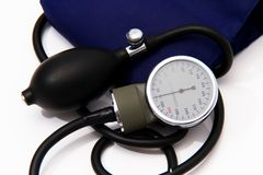 Blood pressure meter medical equipment Royalty Free Stock Images