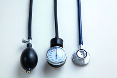 Blood pressure meter medical equipment  on white Royalty Free Stock Images