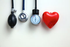 Blood pressure meter medical equipment  on white Royalty Free Stock Photography