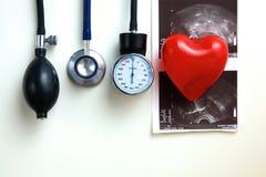 Blood pressure meter medical equipment  on white Stock Image