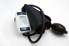 Blood pressure meter medical on white background. Royalty Free Stock Image