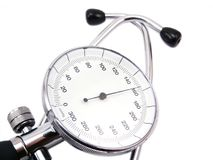 Blood pressure meter on white background with soft shadow Stock Image