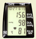 Blood Pressure Momitor. Close up of blood / pulse monitor Stock Photo