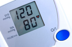 Blood pressure monitor. Automatic digital blood pressure monitor - closeup view stock photo