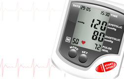 Blood pressure monitor royalty free illustration