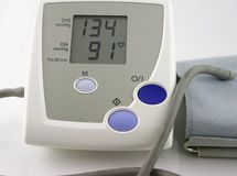 Blood Pressure Monitor. Handheld portable blood pressure monitor Royalty Free Stock Photography