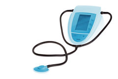 Blood pressure monitor & cuff Royalty Free Stock Photography