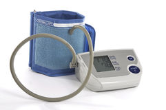 Blood pressure monitor and cuff Stock Photos