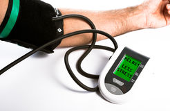 Blood Pressure monitor. Heart rate and Blood Pressure being taken Stock Images