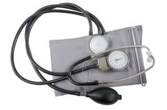 Blood Pressure Monitor. Isolated on a white. Royalty Free Stock Image