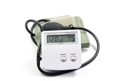 Blood Pressure Monitor Isolated On White Stock Photos