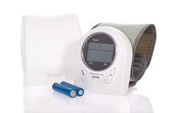 Blood pressure monitor - sphygmomanometer Royalty Free Stock Image