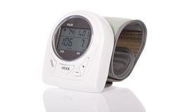 Blood pressure monitor - sphygmomanometer Royalty Free Stock Images