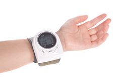 Blood pressure monitor - sphygmomanometer Royalty Free Stock Photo
