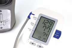 Blood pressure monitor,  on white Stock Photos