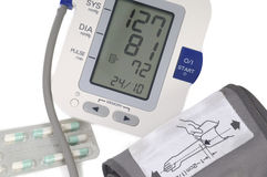 Blood pressure monitor,  on white Stock Images