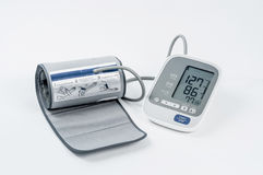 Blood pressure monitor. On white back ground Stock Photos