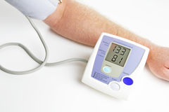 Blood pressure monitoring Stock Image