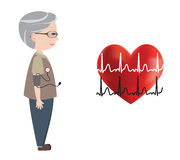Blood pressure monitoring, heart, and electrocardiogram Stock Photography