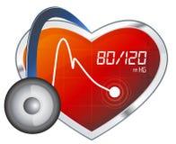 Blood Pressure Monitoring - Illustration Stock Image