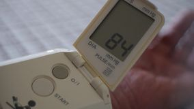 Blood pressure - portable medical diagnostic device stock video