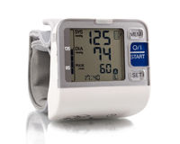 Blood pressure and pulse on display Stock Images