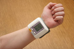 Blood pressure reader Royalty Free Stock Image