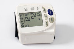 Blood pressure reader. On white background royalty free stock photos