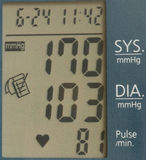 Blood pressure readout Stock Image
