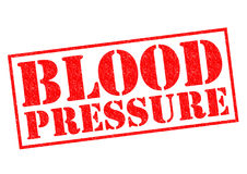 BLOOD PRESSURE. Red Rubber Stamp over a white background Stock Images