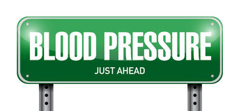 Blood pressure road sign illustration design Stock Photos