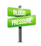 Blood pressure road sign illustration Royalty Free Stock Photography