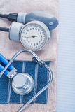 Blood pressure stethoscope medical concept Stock Photos