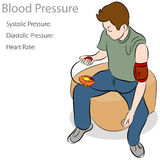 Blood Pressure Test. An image of a man taking a blood pressure test Royalty Free Stock Photo
