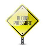Blood pressure yellow sign illustration Stock Photos