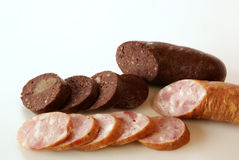 Blood pudding and kielbasa Stock Image