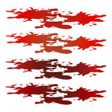 Blood puddle, red drop, blots, stain, plash od blood. Vector illustration  on white background. Royalty Free Stock Photos