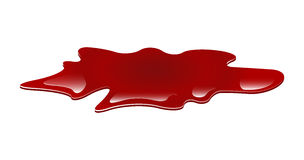 Blood puddle vector illustration Royalty Free Stock Photo