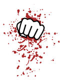 Blood punch. Creative design of blood punch Royalty Free Stock Photo