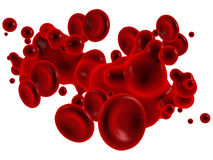 Blood with red blood corpuscles Royalty Free Stock Photos